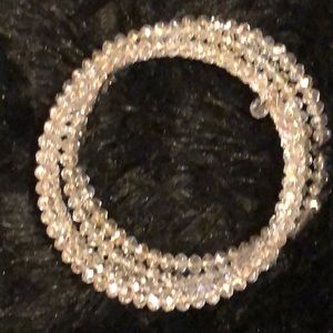 VON MAUR CRYSTAL BEADED LAYERED BRACELET